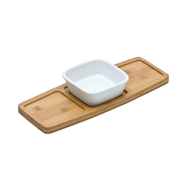 Servírovací prkénko s miskou Premier Housewares Bamboo Snack