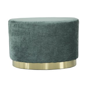 Mentolově zelený puf s podstavcem ve zlaté barvě Mauro Ferretti Ovale
