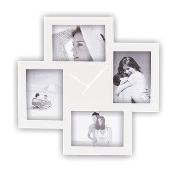 Ceas de perete cu rame foto Tomasucci Collage, alb de la Tomasucci