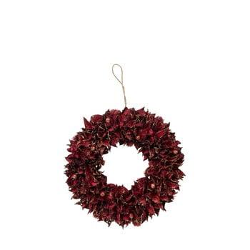 Coroniță pentru Crăciun J-Line Leaf, ø 28 cm, roșu imagine
