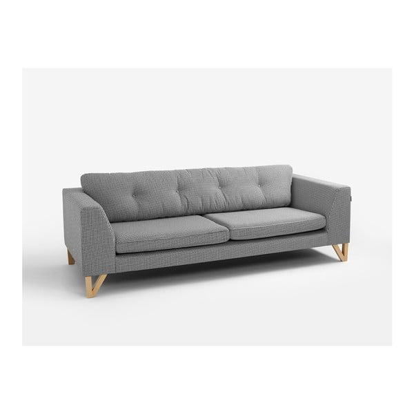 Houndstooth fekete-fehér háromszemélyes kanapé - Custom Form