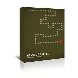 Obraz na plátně Hansel Gretel With Text od Christiana Jacksona