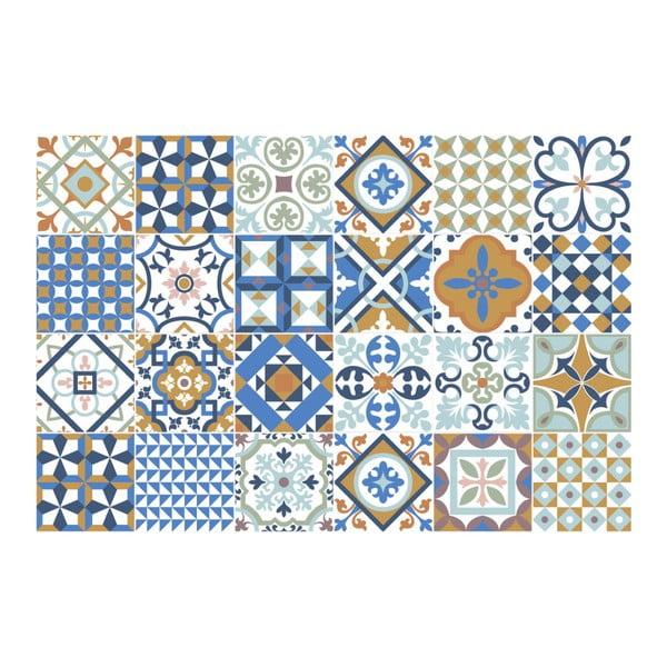 Set 24 autocolante Ambiance Azulejos Ornaments Mosaic, 10 x 10 cm