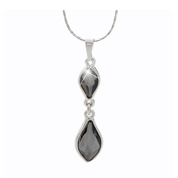 Náhrdelník s krystaly Swarovski® Yasmine Bergliot Black Diamond