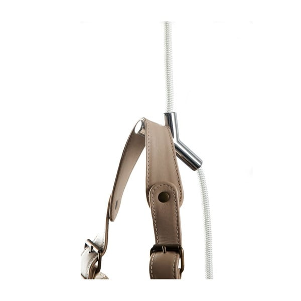 Provazový věšák Wardrope, bílé lano s lesklými háčky