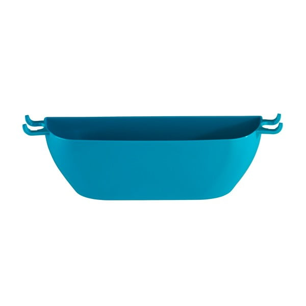 Petrolejově modrý nástěnný košík Wenko Turbo-Loc Brasil