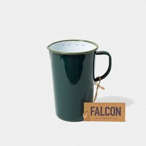 Tmavě zelený smaltovaný džbán Falcon Enamelware DoublePint, 1,137 l