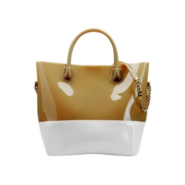Kabelka Grace K Shopper, bílá/béžová