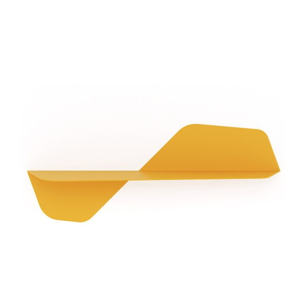 Žlutá nástěnná police MEME Design Flap, délka80cm