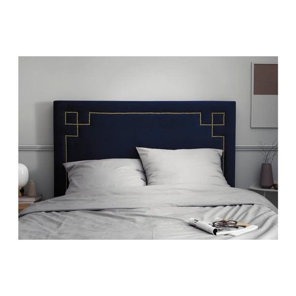 Tmavě modré čelo postele THE CLASSIC LIVING Nicolas, 120 x 140 cm