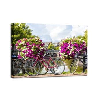 Tablou Styler Canvas Watercolor Bikes, 60 x 80 cm de la Styler