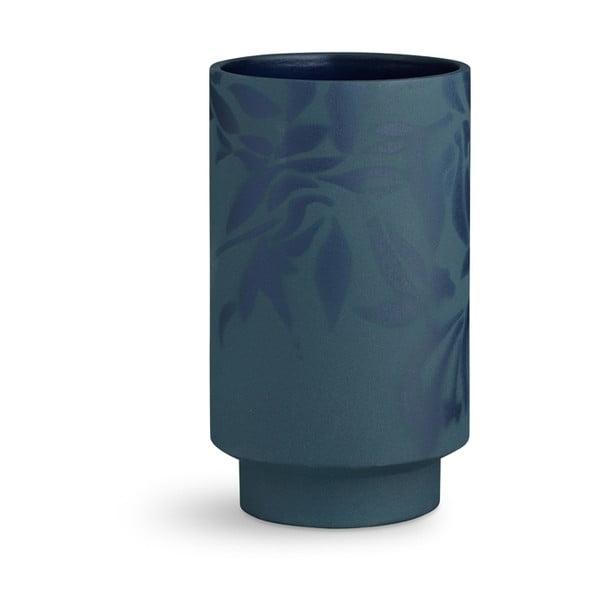 Kabell sötétkék agyagkerámia váza, magasság 19 cm - Kähler Design