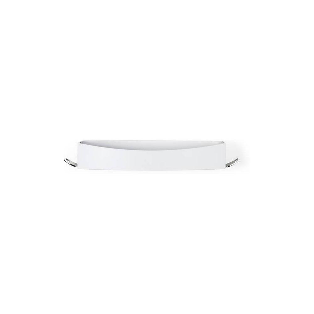 Bílá nástěnná samodržící polička Compactor Clever Flip Shower Shelf