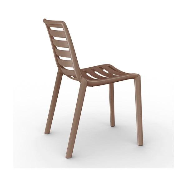 Sada 2 hnědých zahradních židlí Resol Slatkat