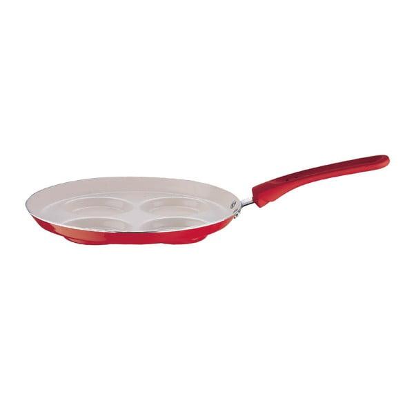 Pánev na vejce, červená, mírně poškozený obal