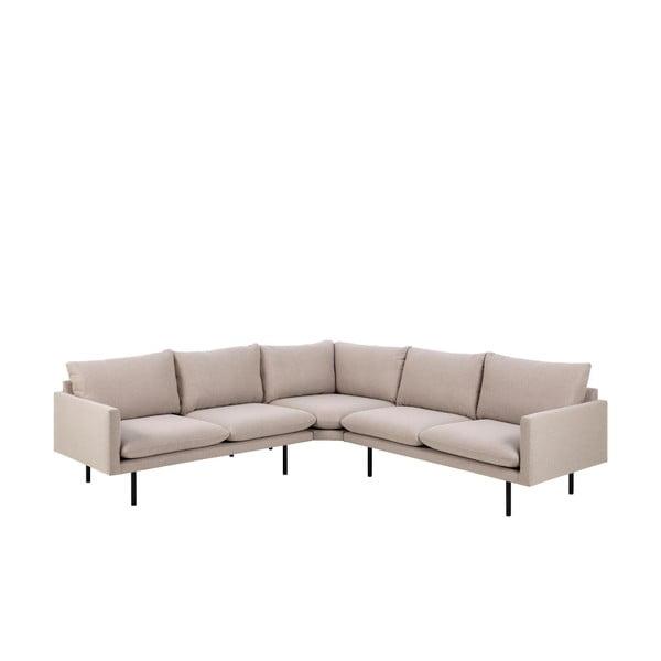 Canapea pe colț Actona Carolina, bej