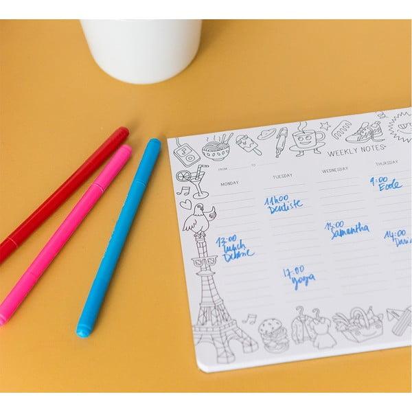 Týdenní stolní plánovač OMY Coloring
