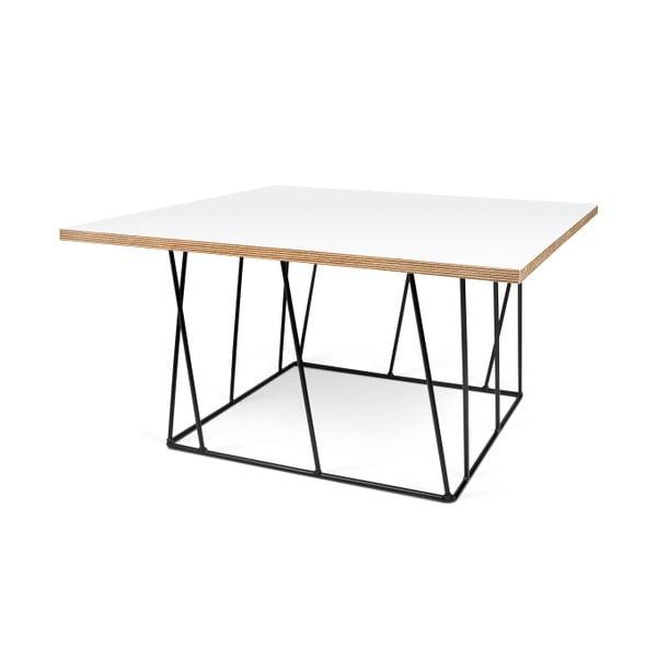 Bílý konferenční stolek s černými nohami TemaHome Helix, 75 cm