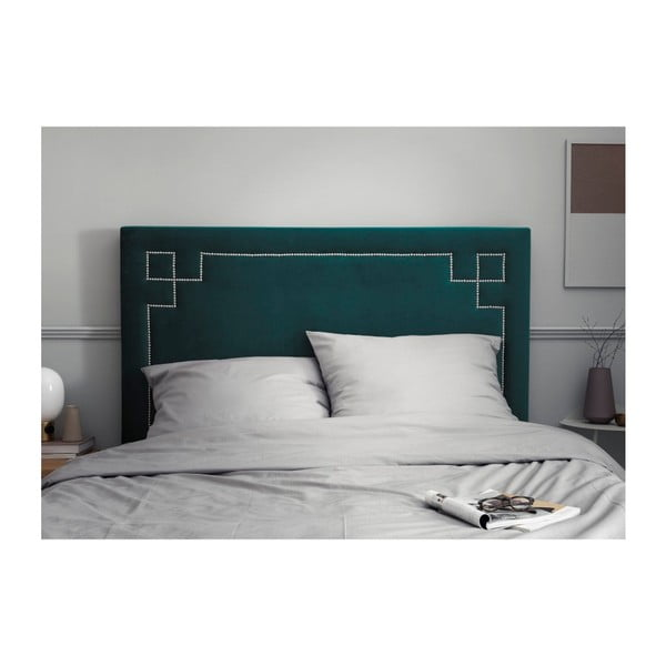 Petrolejově zelené čelo postele THE CLASSIC LIVING Nicolas, 160 x 120 cm