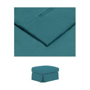 Tyrkysový povlak na podnožku THE CLASSIC LIVING Jean