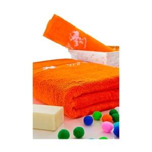 Sada ručníků 50x100 a 150x80 cm, oranžová