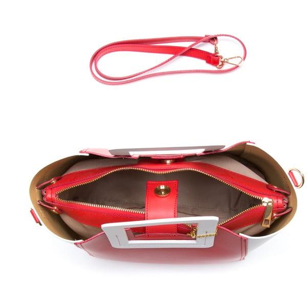 Kožená kabelka Camoa, červená