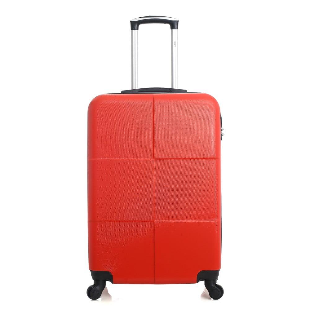 Červený cestovní kufr na kolečkách Hero Coronado, 36 l