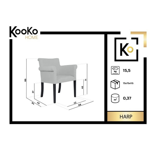 Scaun Kooko Home Harp, roșu