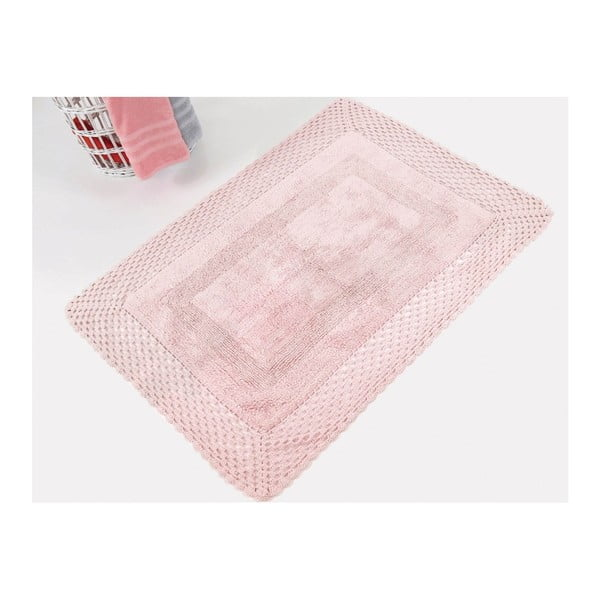 Covoraș de baie din bumbac premium Lizz, roz