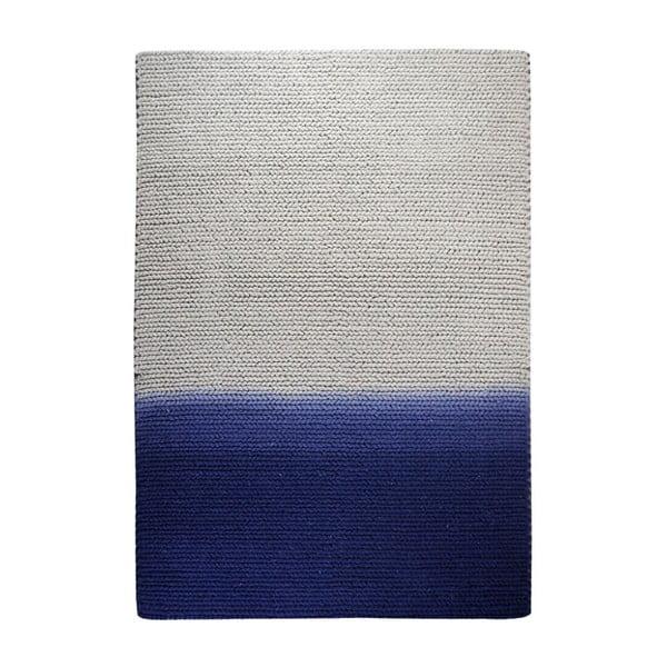 Vlněný koberec Kollam Grey/blue, 160x230 cm