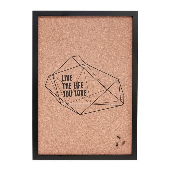 Suport notițe (avizier), din plută Hübsch Live The Life You Love