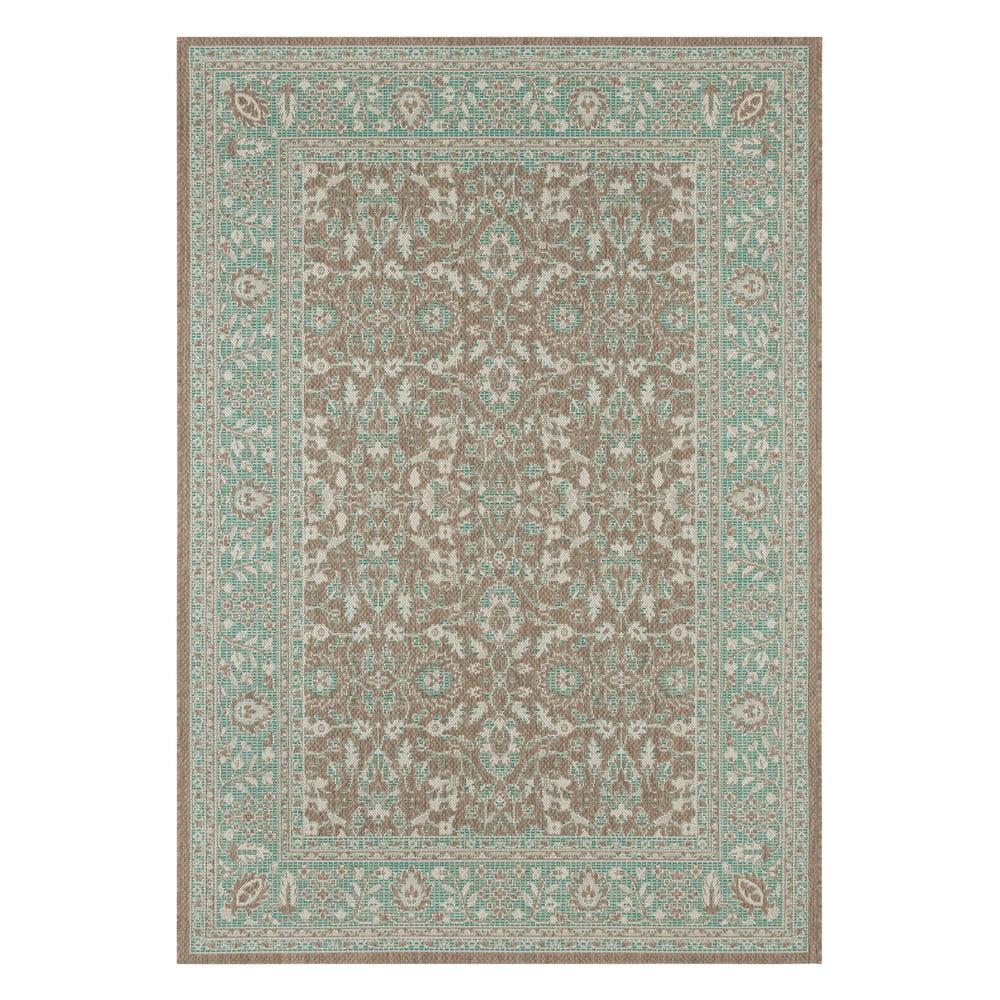 Zeleno-hnědý venkovní koberec Bougari Konya, 160 x 230 cm