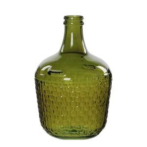 Zelená skleněná váza Mica Diego, 42x27cm
