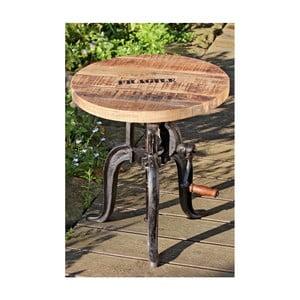 Odkládací stolek s deskou z mangového dřeva Boltze Flexo
