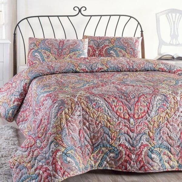 Cuvertură pentru pat dublu cu fețe de pernă Gemeos, 200 x 220 cm