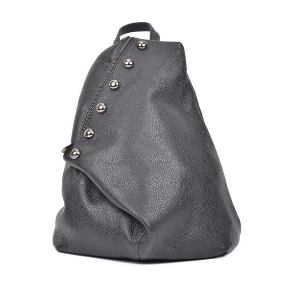 Čierny dámsky kožený batoh Luisa Vannini Cole