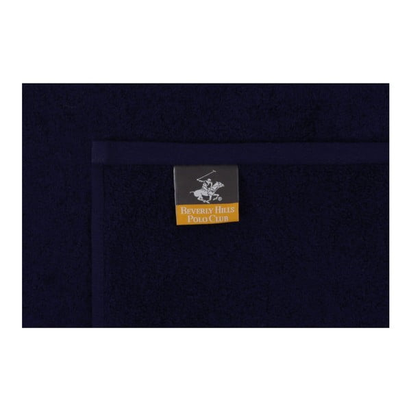 Sada červené a tmavě modré osušky Beverly Hills Polo Club Horses, 140x70cm
