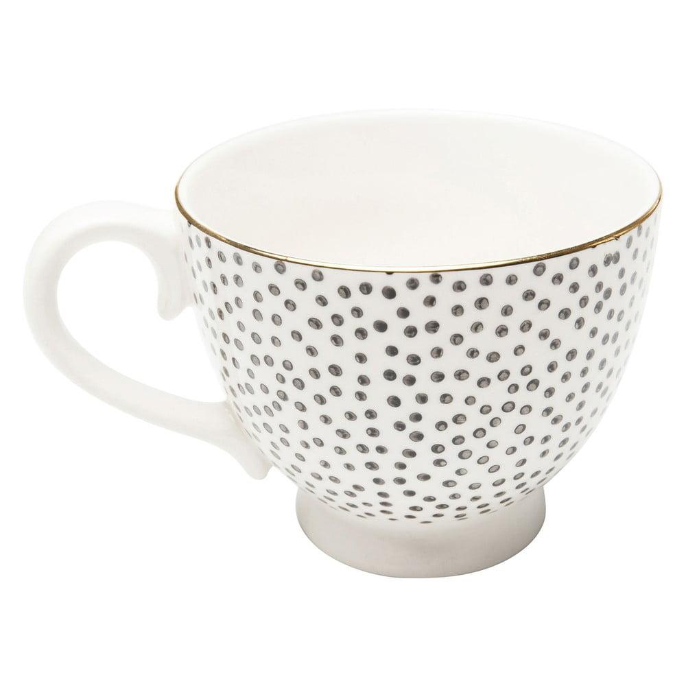 Kameninový puntíkovaný kávový hrnek Kare Design Dotty Rim