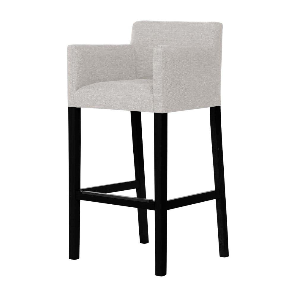 Krémová barová židle s černými nohami Ted Lapidus Maison Sillage