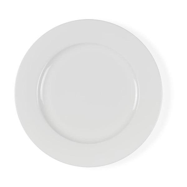 Biely porcelánový plytký tanier Bitz Mensa, priemer 27 cm