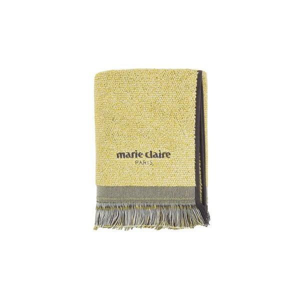 Żółty ręcznik Marie Claire Colza, 50x90 cm