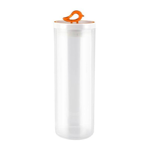 Oranžová dóza Vialli Design Livio, 1,8 l