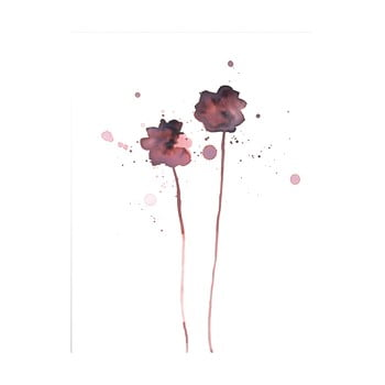 Poster Bloomingville Plum Poppy, 40 x 30 cm