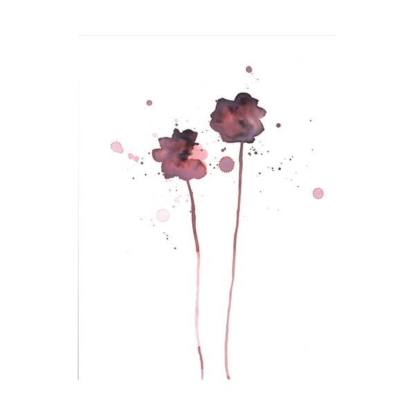 Plakát Bloomingville Plum Poppy, 40 x 30 cm