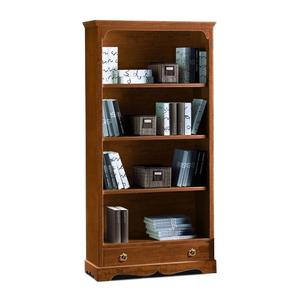 Dřevěná knihovna se zásuvkou Castagnetti Noce