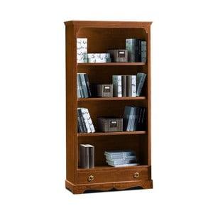 Bibliotecă din lemn cu 4 rafturi și 1 sertar Castagnetti Noce