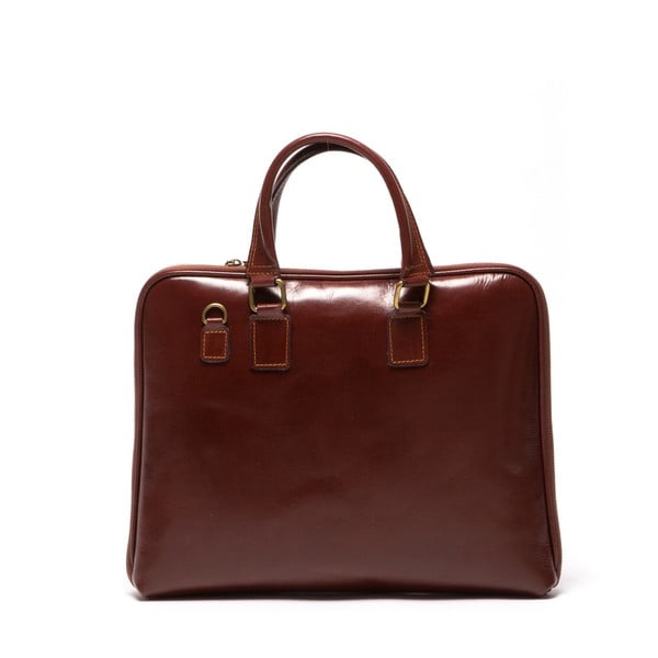 Kožená kabelka Dominica 375 Marrone