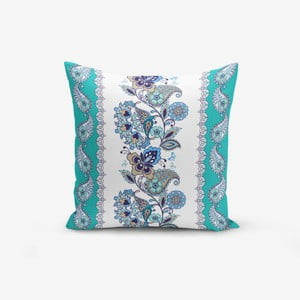 Povlak na polštář s příměsí bavlny Minimalist Cushion Covers Blue Cami Cinisi, 45 x 45 cm
