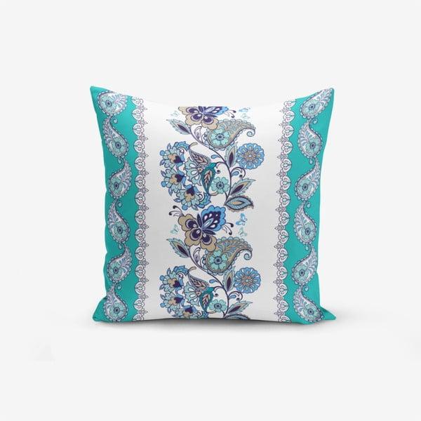 Față de pernă cu amestec din bumbac Minimalist Cushion Covers Blue Cami Cinisi, 45 x 45 cm