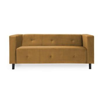 Canapea cu 3 locuri Vivonita Milo maro - muștar